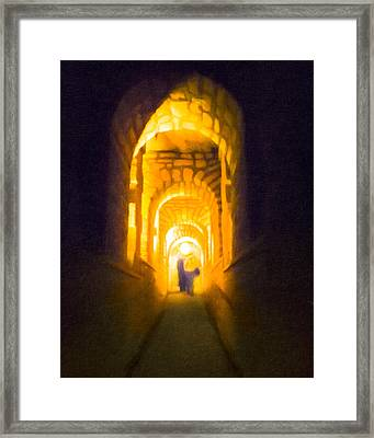 Beneath The Streets Of Paris - Catacombs Framed Print