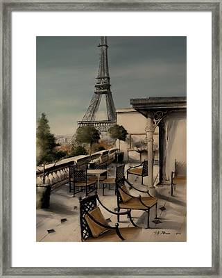 Beneath The Tower   Number 1 Framed Print by Diane Strain