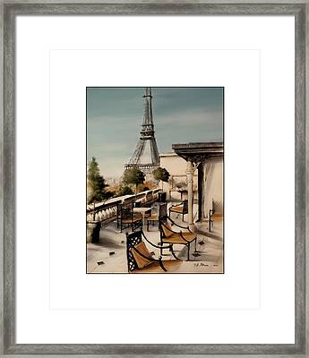 Beneath The Tower   Number 10 Framed Print by Diane Strain
