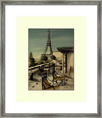 Beneath The Tower   Number 11 Framed Print by Diane Strain