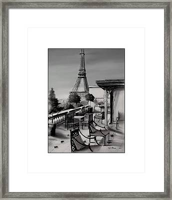 Beneath The Tower   Number 12 Framed Print by Diane Strain