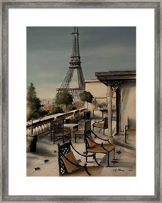 Beneath The Tower   Number 13 Framed Print by Diane Strain