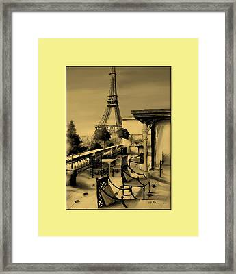 Beneath The Tower   Number 14 Framed Print by Diane Strain
