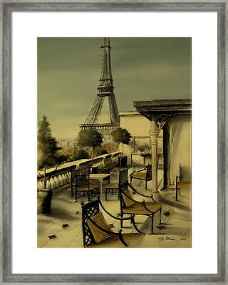 Beneath The Tower   Number 2 Framed Print by Diane Strain