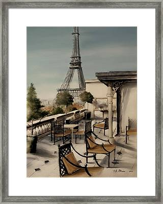 Beneath The Tower  Number 3 Framed Print by Diane Strain