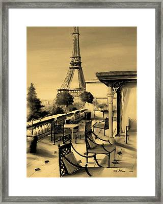 Beneath The Tower   Number 6 Framed Print by Diane Strain