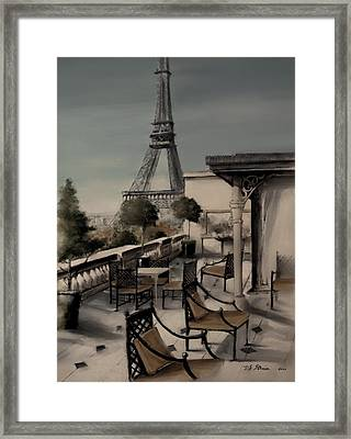 Beneath The Tower   Number 7 Framed Print by Diane Strain