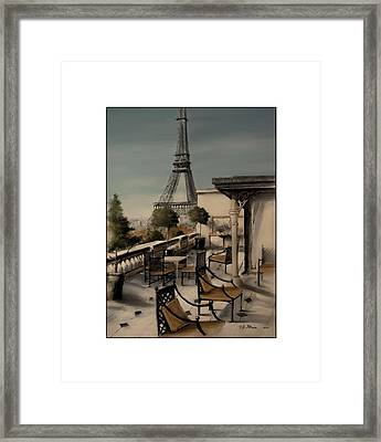 Beneath The Tower   Number 9 Framed Print by Diane Strain
