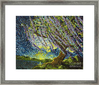 Beneath The Willow Framed Print