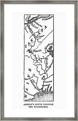 Benedict Arnold: Map, 1775 Framed Print