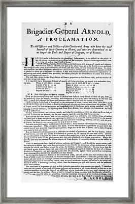 Benedict Arnold Treason Framed Print