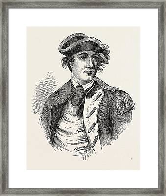 Benedict Arnold Was A General During The American Framed Print by English School