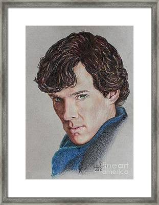 Benedict Cumberbatch Framed Print by Christine Jepsen