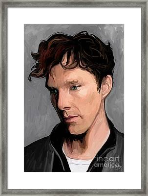 Benedict Cumberbatch Framed Print by Dori Hartley
