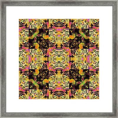 Bengal Tiger Abstract 20130205p80 Framed Print