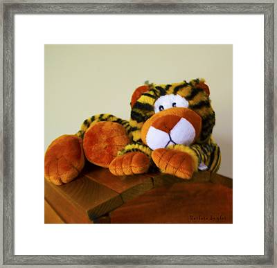 Bengal Tiger Abstract  Framed Print by Barbara Snyder