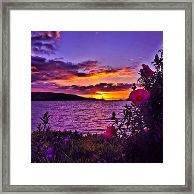 Benicia Sunset Framed Print