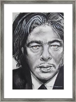 Benicio Del Toro Framed Print