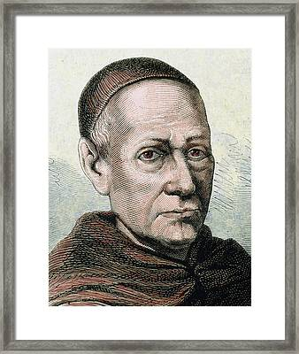 Benito Jeronimo Feijoo (casdemiro Framed Print by Prisma Archivo