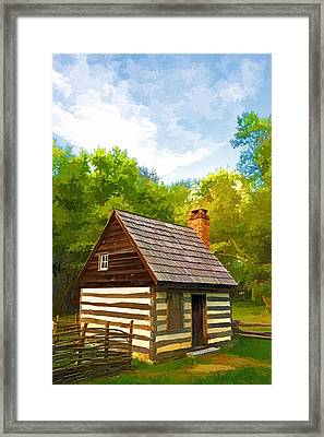 Framed Print featuring the photograph Benjamin Banneker Cabin by Dana Sohr