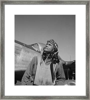 Benjamin Davis - Ww2 Tuskegee Airmen Framed Print by War Is Hell Store