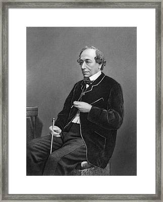 Benjamin Disraeli Framed Print by Underwood Archives