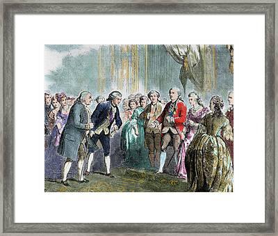 Benjamin Franklin (1706-1790 Framed Print by Prisma Archivo