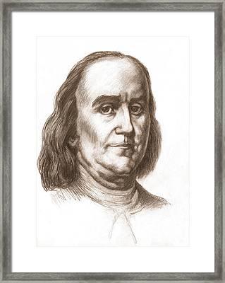 Benjamin Franklin, American Statesman Framed Print by Spencer Sutton