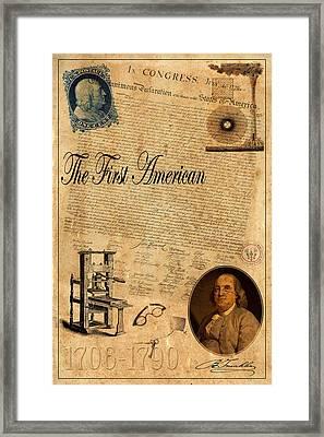 Benjamin Franklin Framed Print by Andrew Fare