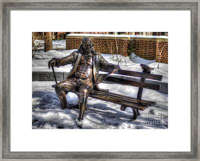 Benjamin Franklin Bench - University Of Pennsylvania Framed Print by Mark Ayzenberg
