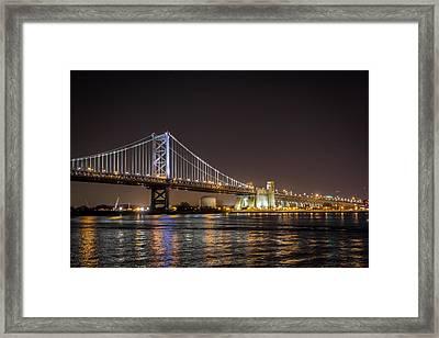 Benjamin Franklin Bridge Framed Print by Alexander Mendoza