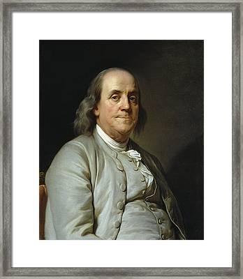 Benjamin Franklin By Joseph Duplessis  C. 1785 Framed Print