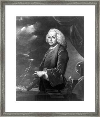 Benjamin Franklin, Experiments Framed Print by Science Source