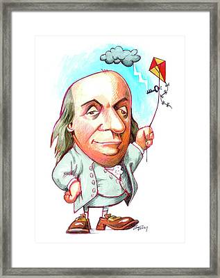 Benjamin Franklin Framed Print by Gary Brown