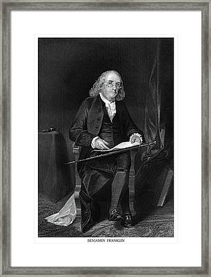 Benjamin Franklin Framed Print by Historic Image