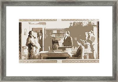 Benjamin Franklin Opening First Subscription Library Framed Print