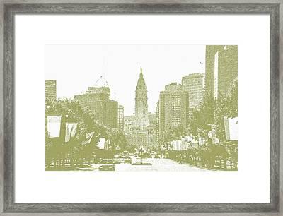 Benjamin Franklin Parkway - Philadelphia Pa Framed Print