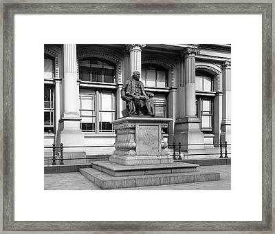 Benjamin Franklin Statue Philadelphia Framed Print by Bill Cannon