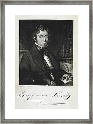 Benjamin Lundy Framed Print by British Library