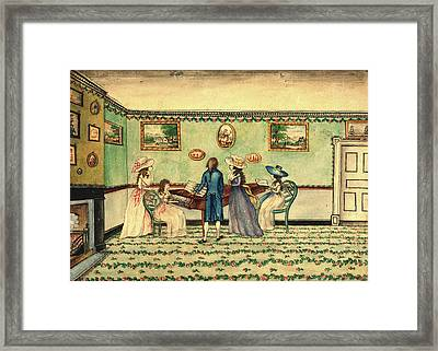 Benjamin Thompson, Harpsichord Recital At Count Rumfords Framed Print