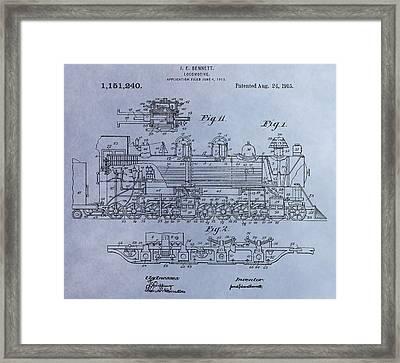 Bennett Locomotive Patent Framed Print by Dan Sproul