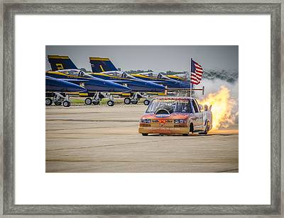 Framed Print featuring the photograph Bennie And The Jets by Bradley Clay