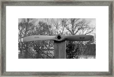 Framed Print featuring the photograph Bent Propeller by Ricky L Jones