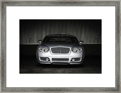 Bentley Continental Front View Framed Print by Enrique Morales