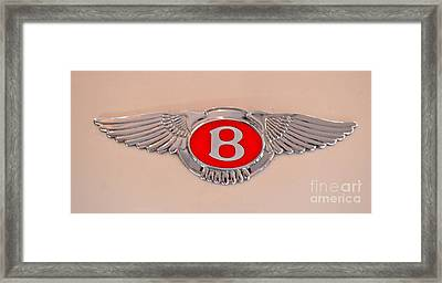 Bentley Emblem Framed Print