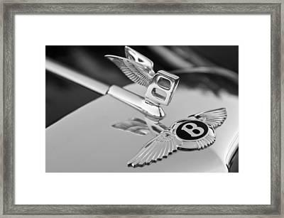Bentley Hood Ornament 5 Framed Print by Jill Reger