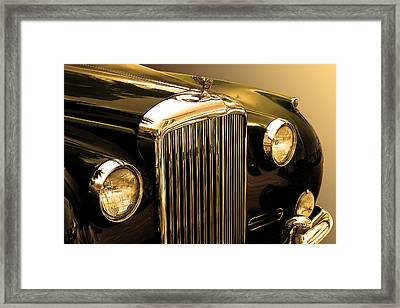 Bentley Logo Close Up  Framed Print by Radoslav Nedelchev
