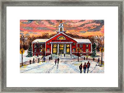 Bentley Under The Winter Clouds Framed Print by Rita Brown