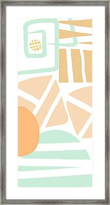 Bento 3- Abstract Shapes Art Framed Print by Linda Woods