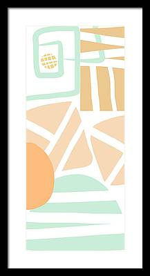 Abstract Pattern Framed Prints